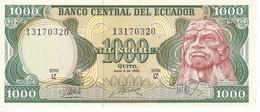 BILLETE DE ECUADOR DE 1000 SUCRES DEL AÑO 1988  (BANKNOTE) SIN CIRCULAR-UNCIRCULATED - Ecuador