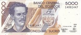 BILLETE DE ECUADOR DE 5000 SUCRES DEL AÑO 1999  (BANKNOTE) SIN CIRCULAR-UNCIRCULATED - Ecuador