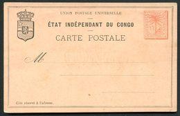 CONGO Postal Card #3  15 Cent. Mint 1888 - Ganzsachen