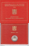 2 Euro Commémorative BU VATICAN 2016 Bicentenaire De La Gendarmerie Vaticane En Coffret BU Neuf - Vatican