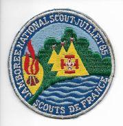 Ecusson Jamborée Scout Juillet 1985 - Dentelles Et Tissus