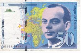 BILLETE DE FRANCIA DE 50 FRANCOS DEL AÑO 1994   (BANKNOTE) - 1992-2000 Last Series