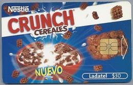 MX.- MEXICO. PHONECARD. LADATEL $ 30. TELMEX. Nestle CRUNCH CEREALES. NUEVO El Explosivo Y Delicioso Sabor Del Chocolate - Reclame