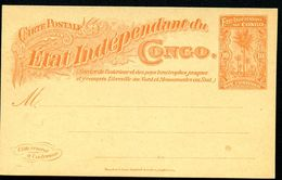 CONGO Postal Card #20 10 Cent. Mint Vf 1900 - Ganzsachen
