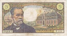 BILLETE DE FRANCIA DE 5 FRANCS DEL 4-9-1969  (BANKNOTE) PASTEUR - 1962-1997 ''Francs''