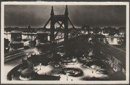 Éjszakai Dunai Iátkép, Budapest, Magyarország, 1936 - Rotációs Levelezőlap - Hungary