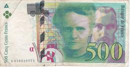 BILLETE DE FRANCIA DE 500 FRANCOS DEL AÑO 1994  (BANKNOTE) - 1992-2000 Ultima Gama