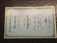 Appenzell - TOPOGRAPHISCHE Atlas DER SCHWEIZ - 1912 -CARTE TOPOGRAPHIQUE DE LA SUISSE - Siegfriedatlas - Blatt Nr. 224 - Topographical Maps