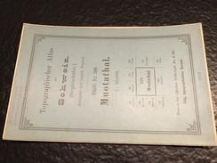 Muotathal - TOPOGRAPHISCHE Atlas DER SCHWEIZ - 1882 -CARTE TOPOGRAPHIQUE DE LA SUISSE - Siegfriedatlas - Blatt Nr. 399 - Topographische Karten