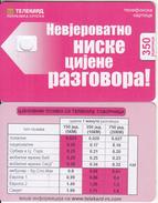 BANJA LUKA(SERBIA) - Telecommunications(red Card, 350 Units), Dummy Telecard(no Chip, No CN) - Phonecards