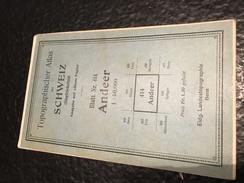 Andeer - TOPOGRAPHISCHE Atlas DER SCHWEIZ - 1873 -CARTE TOPOGRAPHIQUE DE LA SUISSE - Siegfriedatlas - Blatt Nr. 414 - Cartes Topographiques