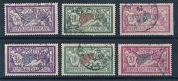 BP-71: FRANCE: Lot  Avec 206/208 Obl (2 Séries) - 1900-27 Merson
