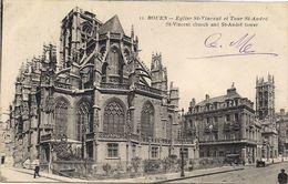 ROUEN *76* EGLISE SAINT VINCENT ET TOUR SAINT ANDRE *ST VINCENT CHURCH AND ST ANDRE TOWER * - Rouen