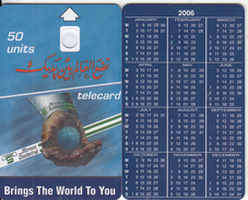 SUDAN - Calendar 2006, Sudatel Telecard 50 Units, Dummy Telecard(no Chip, No CN) - Soudan