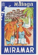 SPAIN ESPAÑA  -  HOTEL LUGAGGE  LABEL - HOTEL MIRAMAR - MALAGA - Hotel Labels