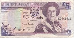 BILLETE DE JERSEY DE 5 POUND DEL AÑO 2000  (BANKNOTE) - Jersey