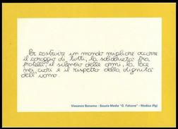 """DITELO CON UN FRANCOBOLLO (Scuola Media """"G. Falcone"""" - MODICA / Ragusa) - Modica"""