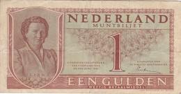 BILLETE DE HOLANDA DE 1 GULDEN DEL AÑO 1949  (BANKNOTE) JULIANA - 1  Florín Holandés (gulden)