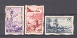 Maroc  -  Avion  :   Yv   100-02  **   ,   N3 - Maroc (1891-1956)