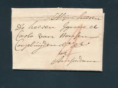 765/25 - NEDERLAND Lettre Précurseur MAESTRICHT 1710 Vers AMSTERDAM - Port 4 à La Craie Rouge - Signée Vande Wyer - Pays-Bas