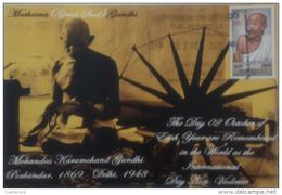 RO) 2011 MEXICO, MAHATMA GHANDI, POLITICAL THINKER, MAXIMUM CARD XF - Mexico