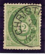 NORWAY 1877 Posthorn 12 Øre, Fine Used.  Michel 26 - Norway