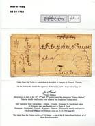 768/25 - NEDERLAND / ITALIE Lettre Précurseur AMSTERDAM 1732 Vers FIRENZE - Franco Mantua - Signée Gio Teyler - Niederlande
