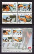 NUEVA ZELANDA - OLYMPICS BARCELONA 92 - YVERT 1164-67 + BF 82 - MICHEL 1226-29 + BLOCK 32 - SCOTT 1100-03 + SS 1103a - Boogschieten
