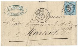 LETTRE Avec  N°60; 35 G1;  .1er  état TTB - 1871-1875 Cérès