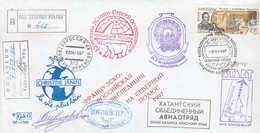 """REGISTERED COVER SOVIET ARCTIC  POS """"CEVERNIY POLYUS"""" 1997 - SIGNED  /2 - Timbres"""