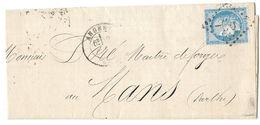 LETTRE Avec  N°60; 15 G1; 2 ème état . TTB - 1871-1875 Cérès