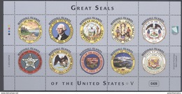 MARSHALL ISLANDS ,MNH, 2016, GREAT SEALS OF THE US, SHIPS,CATTLE, MOUNTAINS,EAGLES, SHEETLET V - Stamps