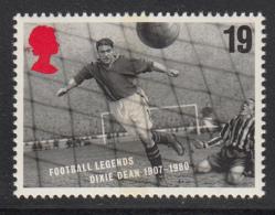 Great Britain 1996 MNH Scott #1663 19p Dixie Dean - Soccer Legends - Championnat D'Europe (UEFA)