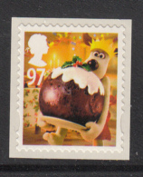 Great Britain 2010 MNH 97p Gromit Holding Christmas Pudding - Christmas - 1952-.... (Elizabeth II)