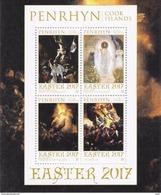 PENRHYN - 2017 - Pâques 2017, Peintures Religieuses De Michelangelo, Rembrandt, Mikhail Et Tintoretto  - BF Neuf // Mnh - Penrhyn