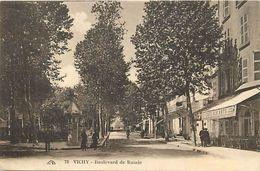 - Dpts Div.-ref-VV681- Allier - Vichy - Boulevard De Russie - Cafe Des Arts - Cafes - Carte Bon Etat - - Vichy