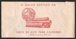 Portugal Lettre Publicitaire 1981 Tubes En Acier Pour Chaudières Pipes Steel For Boilers Publicitary Cover - 1910-... République