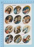 Religion - 12Timbres A Cachetés 1995, Theme Religion, Vignette Erinnophilie - Religion & Esotérisme