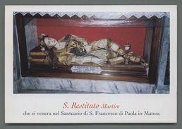 ES4002 S. San RESTITUITO MARTIRE SANTUARIO S. FRANCECO DI PAOLA IN MATERA Santino - Religion & Esotérisme