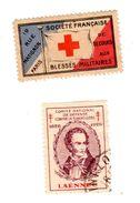 2 Timbres Vignettes Croix Rouge - Erinofilia