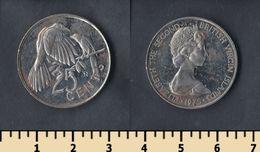 British Virgin Islands 25 Cents 1975 - Islas Vírgenes Británicas