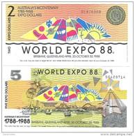 Australia - World Expo 1988 - 2, 5 Dollars 1988 - Unc - Set 2 Banknotes - Australia