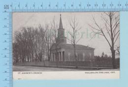 Niagara-on-the-lake Ontario -  St. Andrew's Church, Cover Niagara 1907 + Stamp - Non Classés