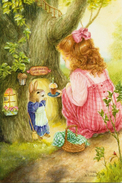 #48/1 Children Animals Hares Susan Wheeler Russian Modern Rare New Postcard - Andere