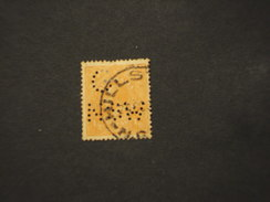 NEW SOUTH WALES  - SERVIIZIO - 19.. RE 1/2 P., Perfin G NSW - TIMBRATO/USED - 1850-1906 New South Wales