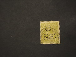 NEW SOUTH WALES  - SERVIZIO - 19.. RE 4 P., Perfin G NSW - TIMBRATO/USED - 1850-1906 New South Wales