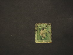 NEW SOUTH WALES  - 18.. REGINA 3 P.,- TIMBRATO/USED - 1850-1906 New South Wales
