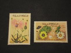 MAROCCO - 1973 FIORI 2 VALORI - NUOVI(++) - Marocco (1956-...)