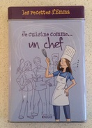 Merci Les Recettes D'Emma - Boite Métal Fiches Cuisine - Editions ATLAS - Je Cuisine Comme Un Chef - Neuf - Fiestas & Eventos
