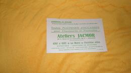 BUVARD ANCIEN DATE ?. / ATELIERS JACMOR ORLEANS. / MACHINES D'OCCASION POUR CHAUSSURES... - Blotters